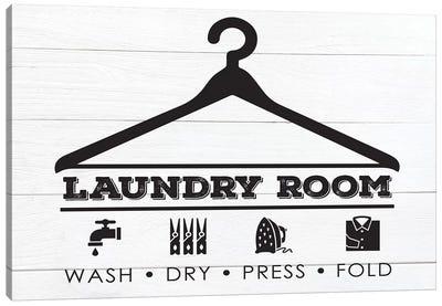 Laundry Shiplap III Canvas Art Print
