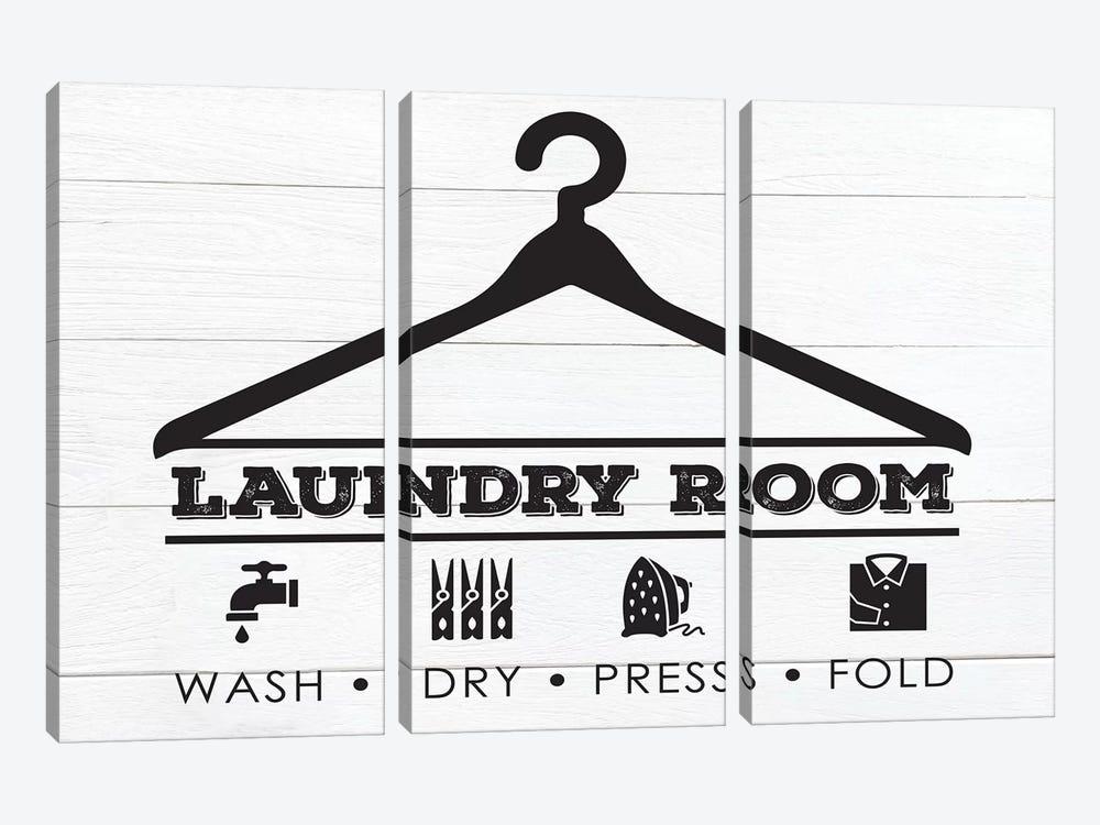 Laundry Shiplap III by Melody Hogan 3-piece Canvas Art Print