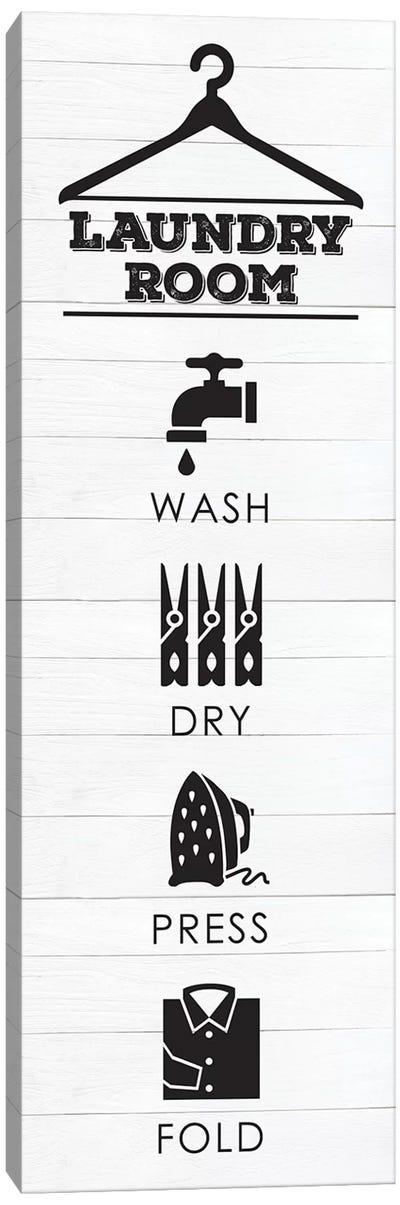 Laundry Shiplap V Canvas Art Print