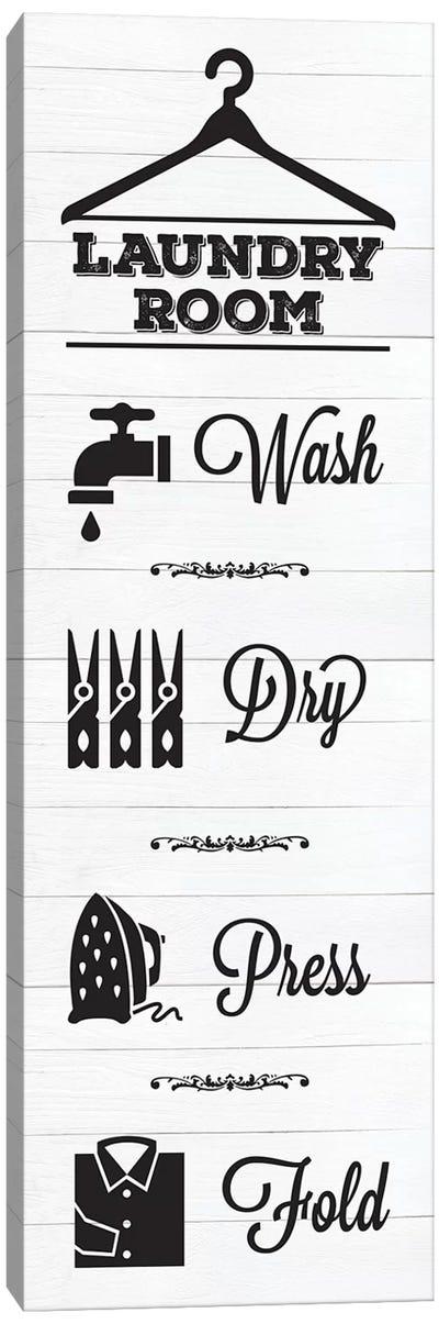 Laundry Shiplap VI Canvas Art Print
