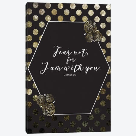 Gold Foil Scripture 2 Canvas Print #MHO23} by Melody Hogan Canvas Artwork