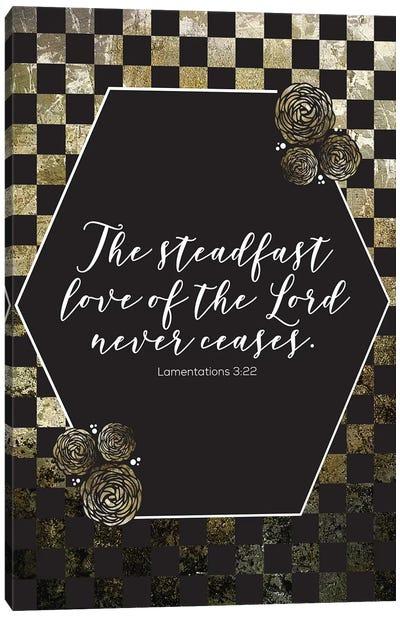 Gold Foil Scripture 3 Canvas Art Print