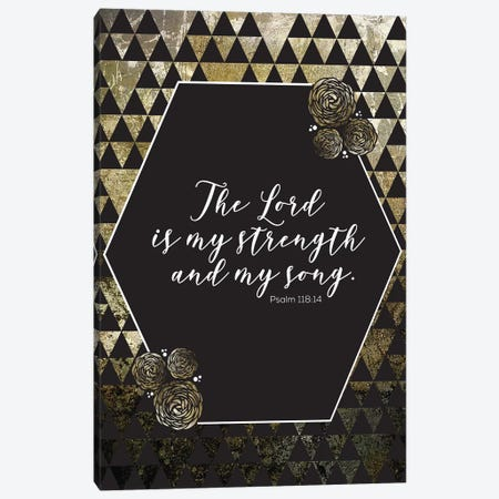 Gold Foil Scripture 4 Canvas Print #MHO25} by Melody Hogan Canvas Print