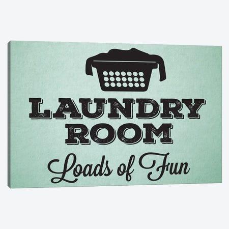 Laundry Mint I Canvas Print #MHO2} by Melody Hogan Canvas Art Print
