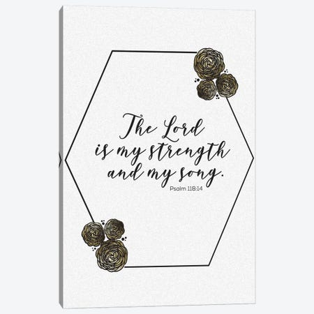 Gold Foil Scripture Specks 4 Canvas Print #MHO33} by Melody Hogan Art Print