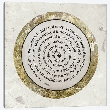 Gold Foil And Black Text Scriptures 1 Canvas Print #MHO34} by Melody Hogan Canvas Artwork