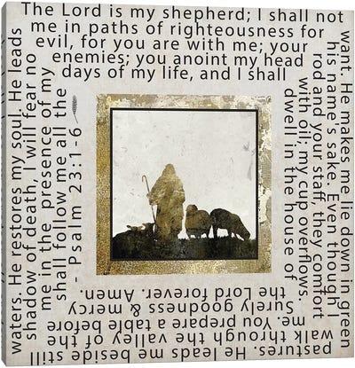 Gold Foil And Black Text Scriptures 2 Canvas Art Print