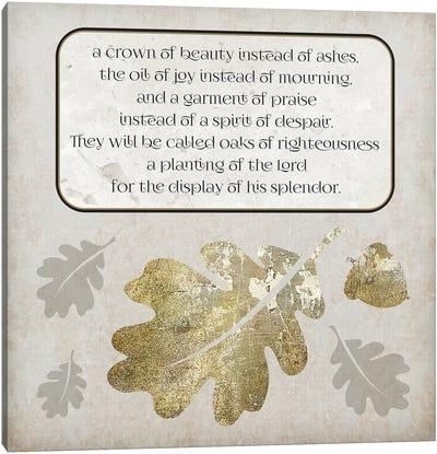 Gold Foil And Black Text Scriptures 3 Canvas Art Print