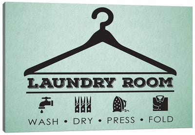 Laundry Mint III Canvas Art Print