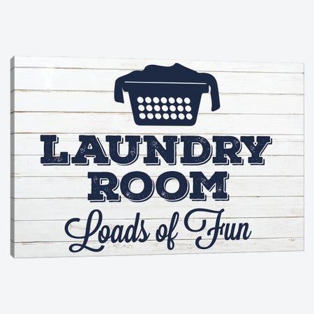 Laundry Pair Navy I Canvas Print #MHO51} by Melody Hogan Canvas Print