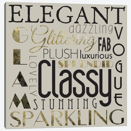 Glamour Gold III Canvas Print #MHO54} by Melody Hogan Canvas Wall Art
