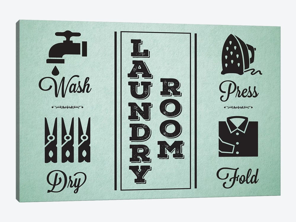 Laundry Mint IV by Melody Hogan 1-piece Canvas Print