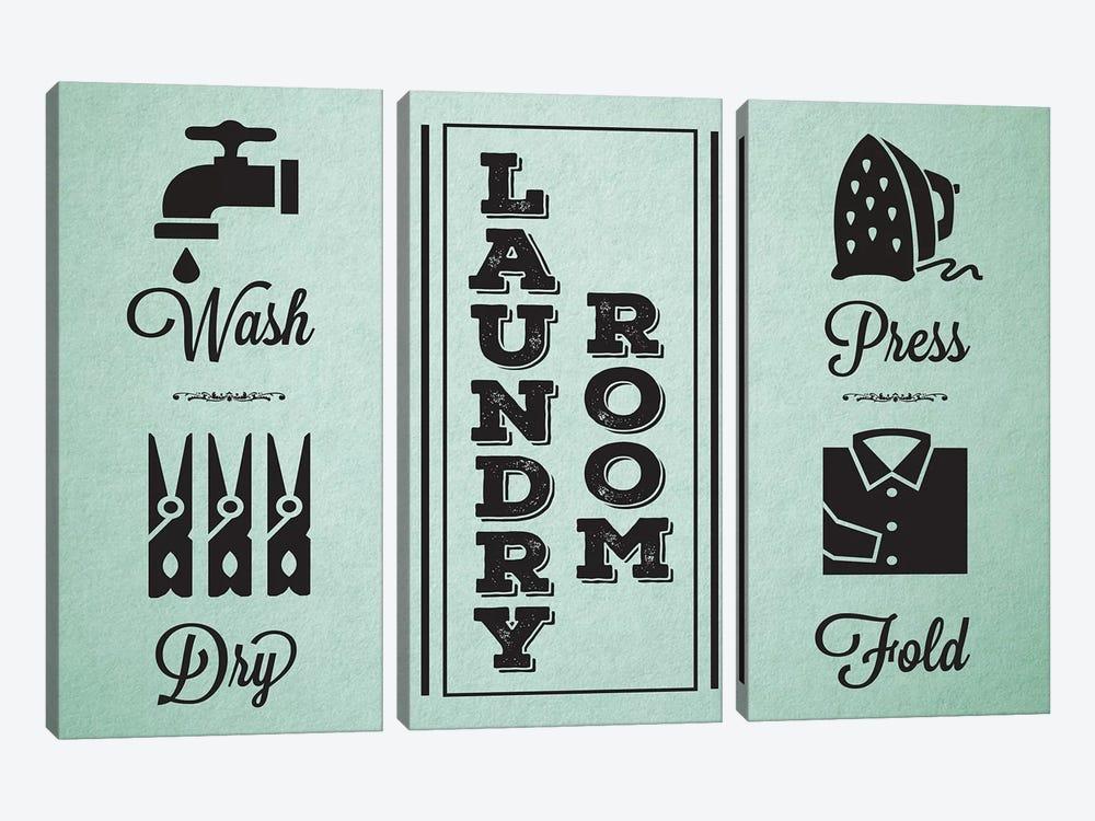 Laundry Mint IV by Melody Hogan 3-piece Canvas Art Print
