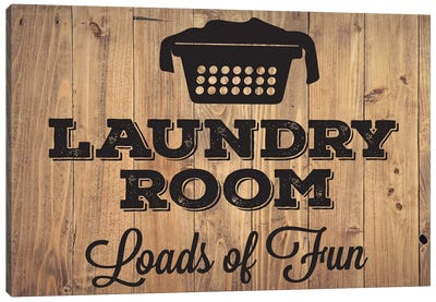 Laundry Natural I Canvas Art Print