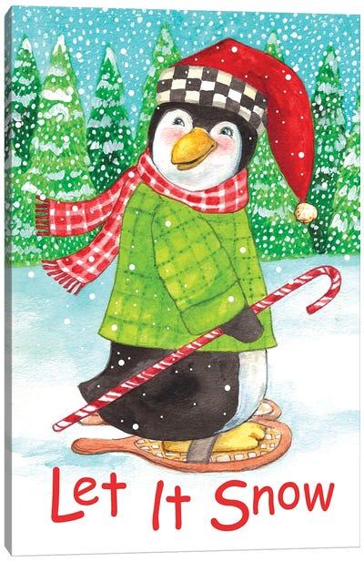 Penguin Let It Snow Canvas Art Print