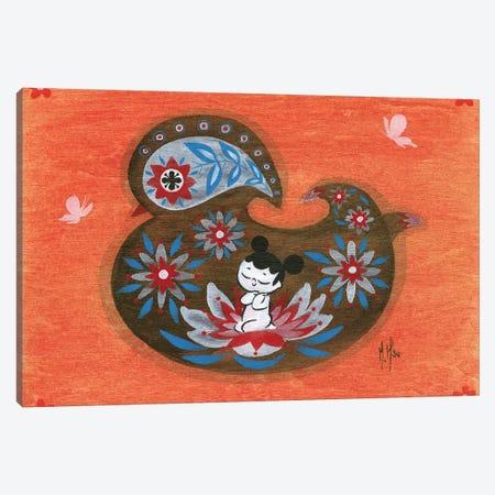 Folk Blessings - Duck Canvas Print #MHS101} by Martin Hsu Canvas Artwork