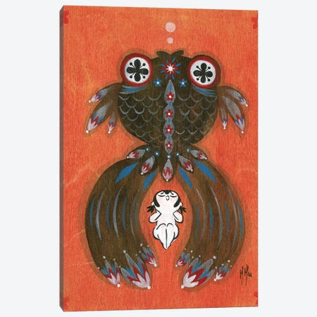 Folk Blessings - Goldfish Canvas Print #MHS102} by Martin Hsu Canvas Artwork