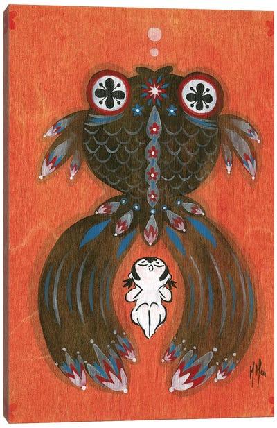 Folk Blessings - Goldfish Canvas Art Print