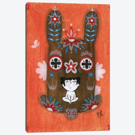 Folk Blessings - Bunny Canvas Print #MHS103} by Martin Hsu Canvas Art
