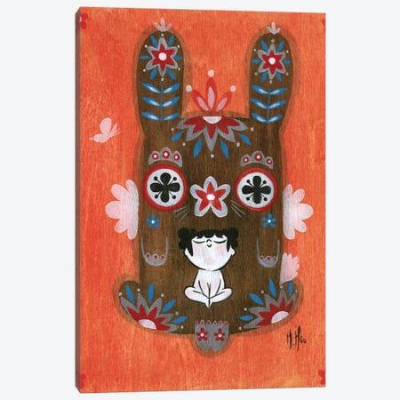 Folk Blessings - Bunny Canvas Print #MHS103} by Martin Hsu Canvas Art