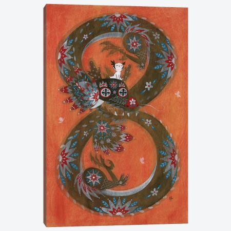 Folk Blessings - Dragon Canvas Print #MHS104} by Martin Hsu Canvas Art Print
