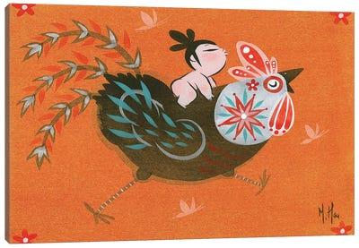 Folk Blessings - Rooster Run Canvas Art Print