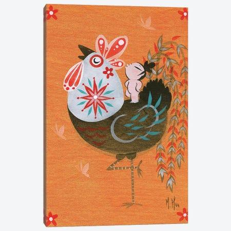 Folk Blessings - Rooster Call Canvas Print #MHS112} by Martin Hsu Art Print