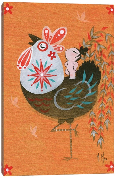 Folk Blessings - Rooster Call Canvas Art Print