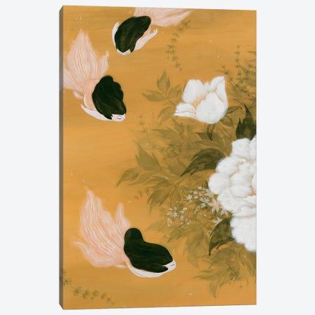 Goldfish Mermaid - Peony And Ballerinas I Canvas Print #MHS114} by Martin Hsu Canvas Art