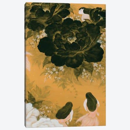 Goldfish Mermaid - Peony And Ballerinas III Canvas Print #MHS116} by Martin Hsu Canvas Art