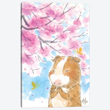 Cherry Blossom Guinea Pig Canvas Print #MHS132} by Martin Hsu Canvas Print