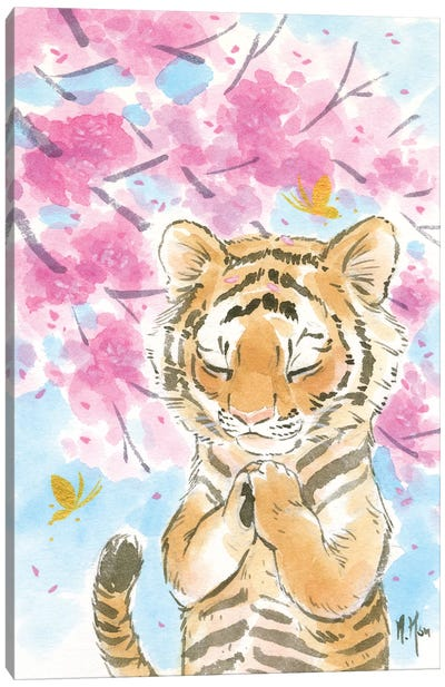 Cherry Blossom Tiger Canvas Art Print