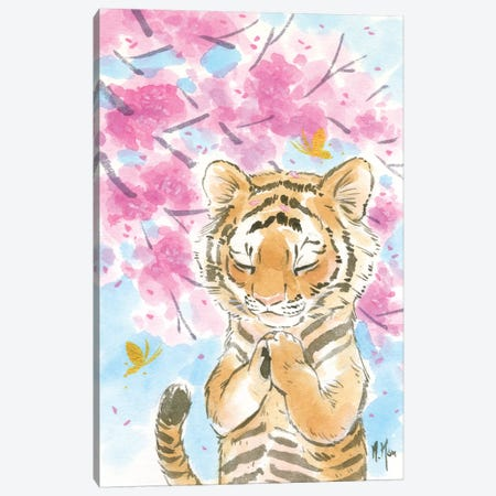 Cherry Blossom Tiger Canvas Print #MHS133} by Martin Hsu Art Print