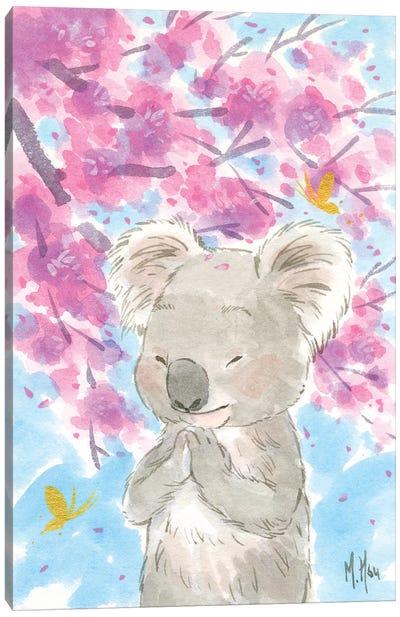 Cherry Blossom Koala Canvas Art Print
