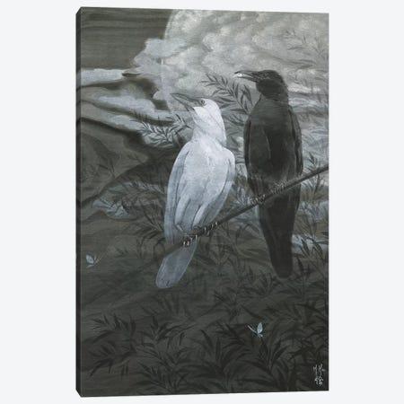Crows And Moon Canvas Print #MHS139} by Martin Hsu Canvas Art Print