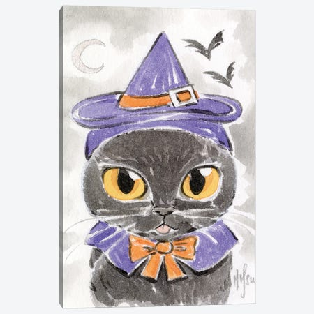 Cat - Witch Canvas Print #MHS145} by Martin Hsu Canvas Print