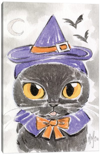Cat - Witch Canvas Art Print