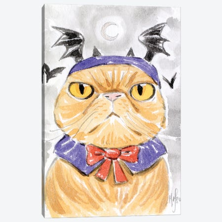 Cat - Dracula Canvas Print #MHS147} by Martin Hsu Canvas Print