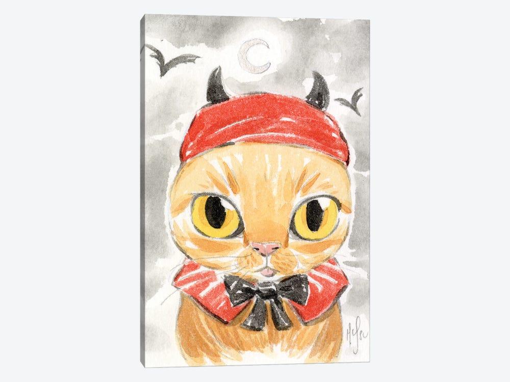Cat - Devil by Martin Hsu 1-piece Canvas Artwork