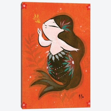 Goldfish Mermaid - Bubble Whisper Canvas Print #MHS14} by Martin Hsu Canvas Wall Art
