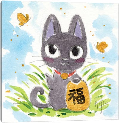Lucky Kitty Canvas Art Print