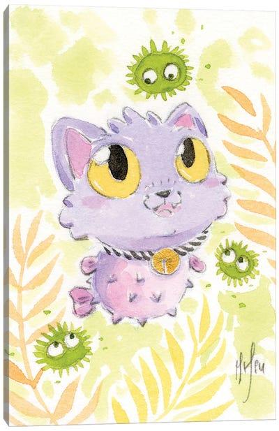 Puffer Fish Kitty Canvas Art Print