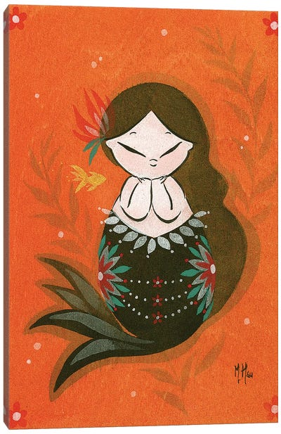 Goldfish Mermaid - Bubble Dream Canvas Art Print