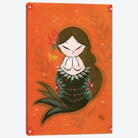 Goldfish Mermaid - Bubble Dream Canvas Print #MHS15} by Martin Hsu Canvas Wall Art