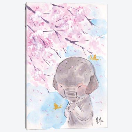 Cherry Blossom Wishes - Elephant Canvas Print #MHS18} by Martin Hsu Canvas Print