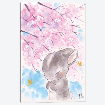 Cherry Blossom Wishes - Cottontail Canvas Print #MHS20} by Martin Hsu Canvas Artwork