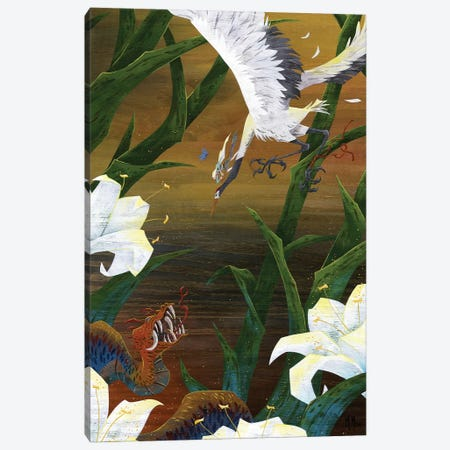 Righteous Crane Canvas Print #MHS26} by Martin Hsu Canvas Print