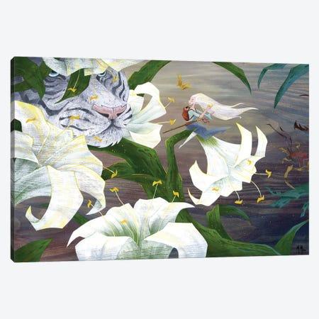 Vigilant Tiger Canvas Print #MHS27} by Martin Hsu Art Print