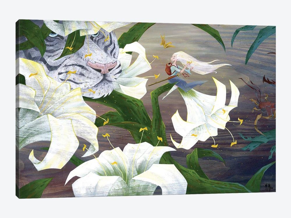 Vigilant Tiger by Martin Hsu 1-piece Canvas Wall Art