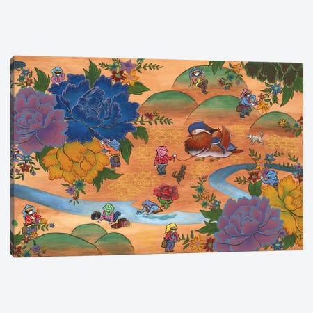 Peony - Mandarin Duck Canvas Print #MHS30} by Martin Hsu Art Print
